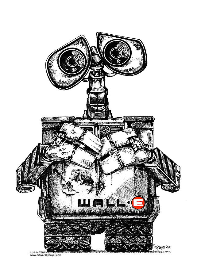 642x900 Wall E Drawing By James Sayer