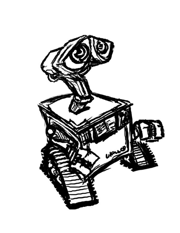 Wall E Drawing at GetDrawings.com | Free for personal use Wall E ...