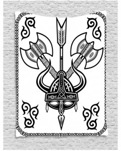240x300 Tapestry Celtic War Style Design Printed Wall Hanging