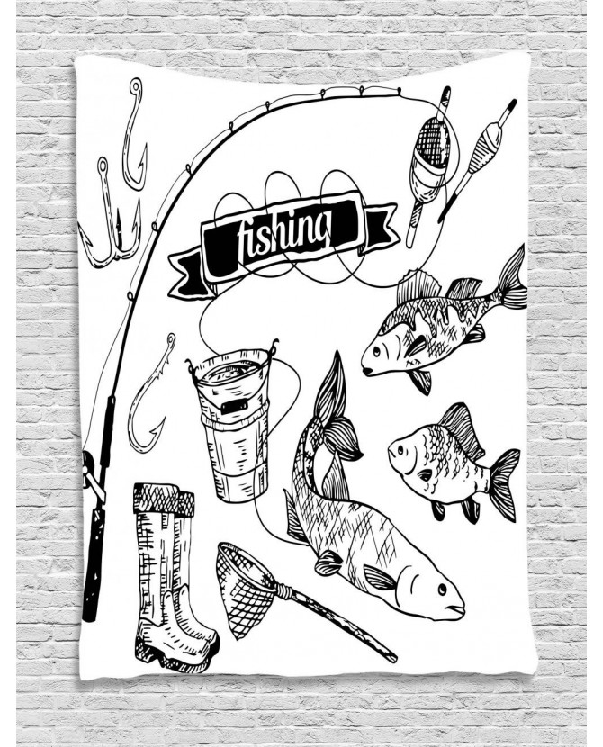 670x830 Tapestry Hand Drawn Animals Artsy Printed Wall Hanging