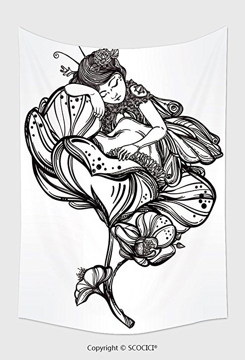 488x717 Home Decor Tapestry Wall Hanging Hand Drawn Beautiful