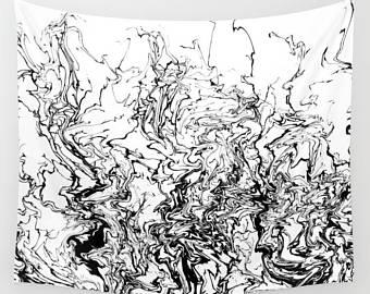 340x270 Black White Tapestry Etsy