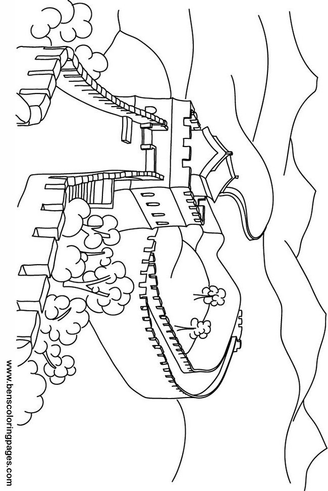 650x972 Great Wall Of China Coloring Page