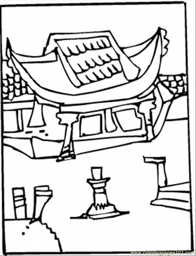 650x848 Great Wall Of China Coloring Page