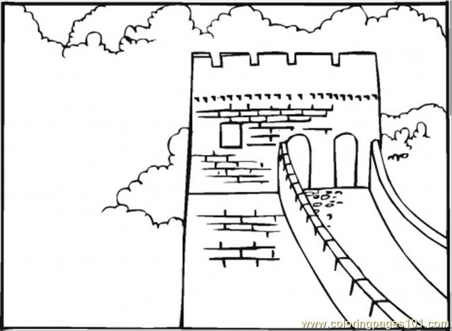 650x476 Great Wall Of China Coloring Page