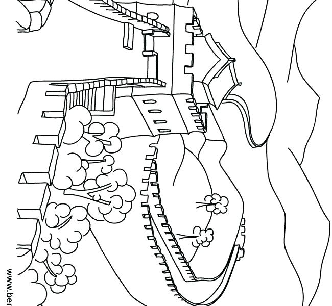 650x600 Awesome Great Wall Of China Coloring Page Image Pages Site Dragon