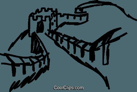 480x323 Great Wall Of China Royalty Free Vector Clip Art Illustration
