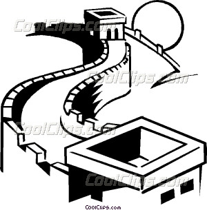 300x305 Great Wall Of China Vector Clip Art