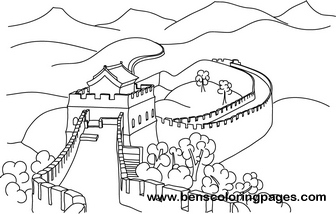 336x214 Great Wall Of China Free Coloring Book