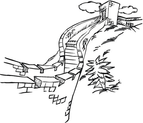 480x415 Wall Of China Coloring Page Free Printable Coloring Pages