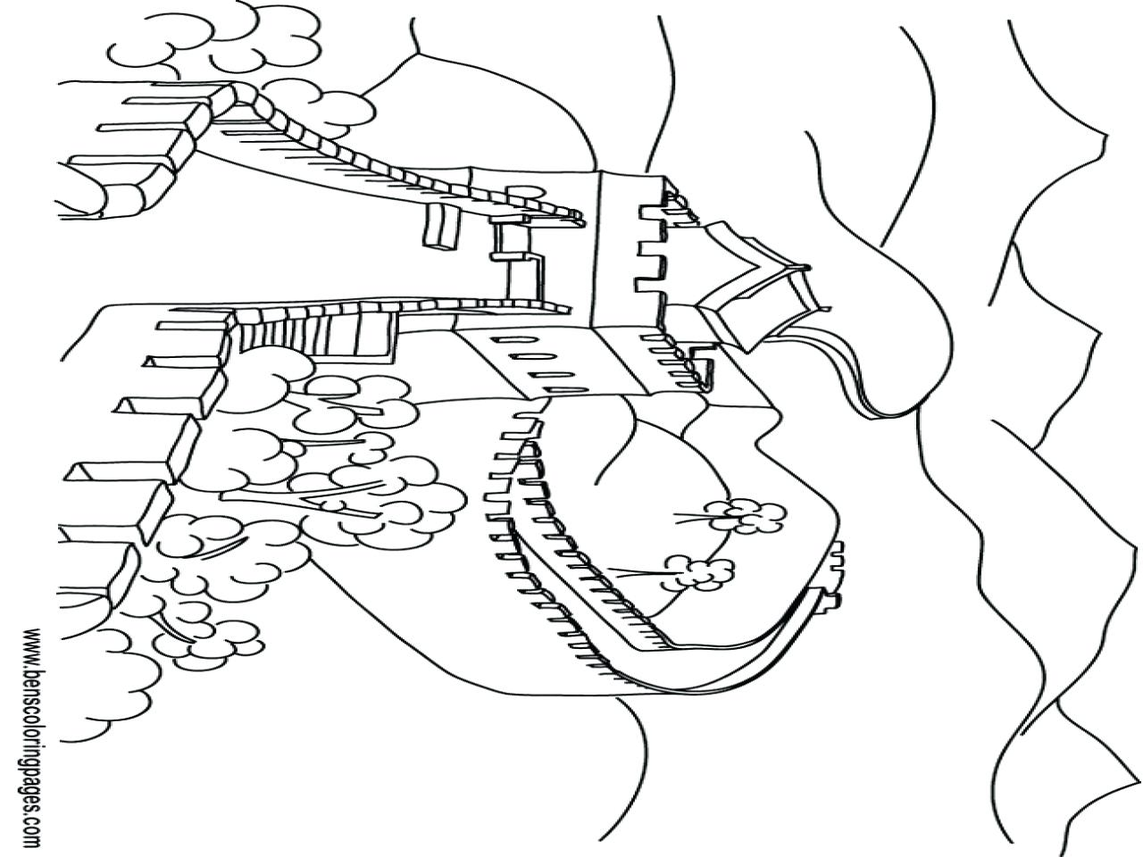 1280x960 Coloring Great Wall Of China Coloring Page