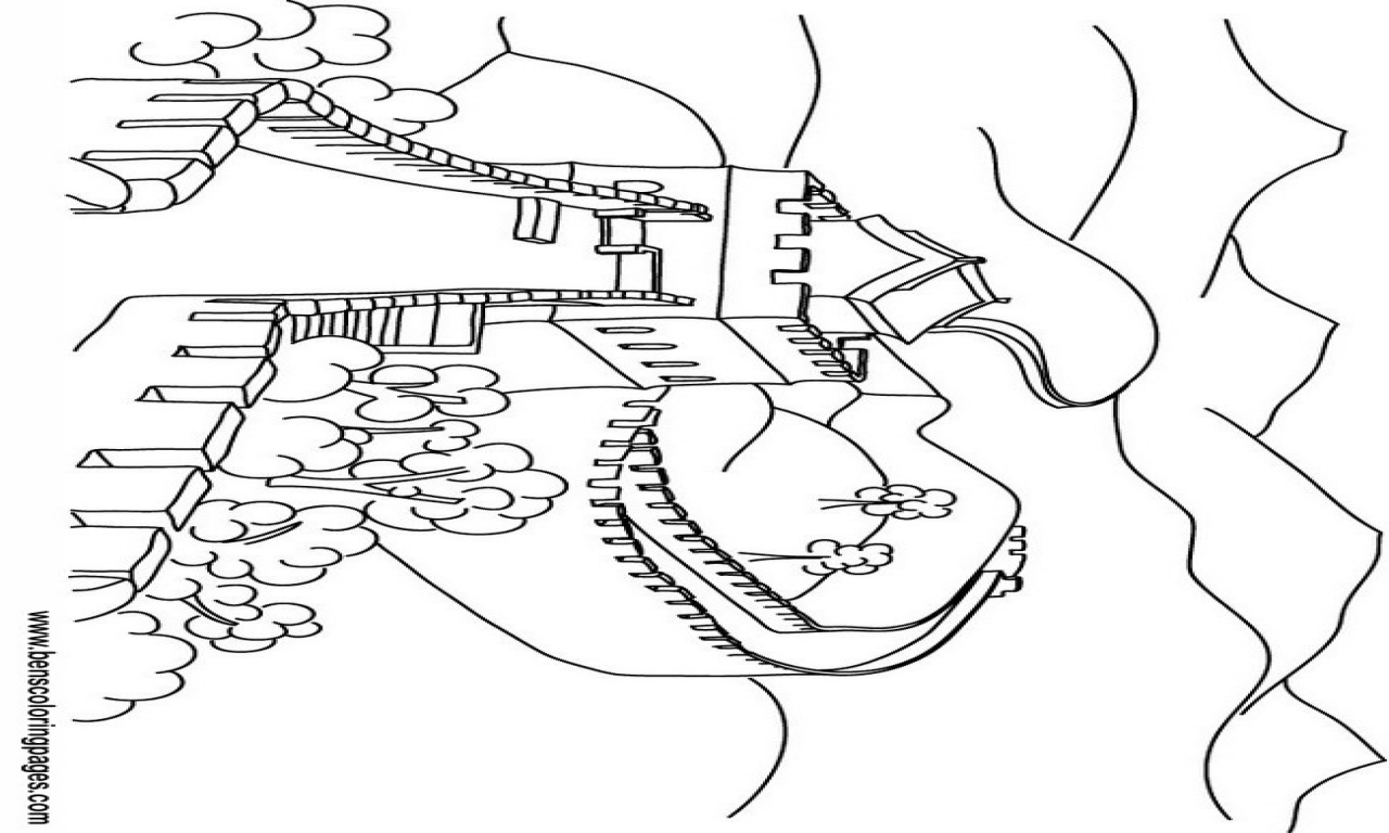 1280x768 China Coloring Pages Great Wall Of Page
