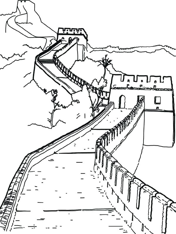 600x800 Chinese Coloring Pages Great Wall China Coloring Pages Chinese