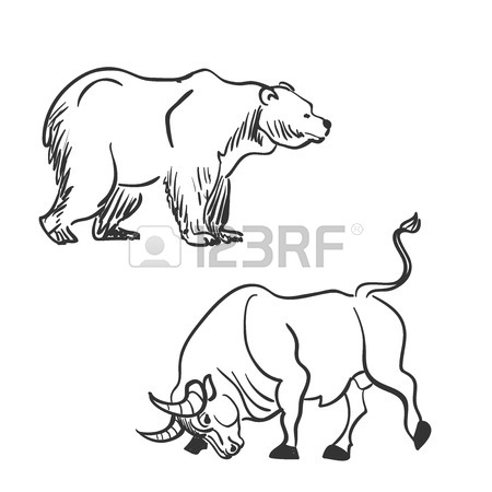 Wall Street Bull Drawing