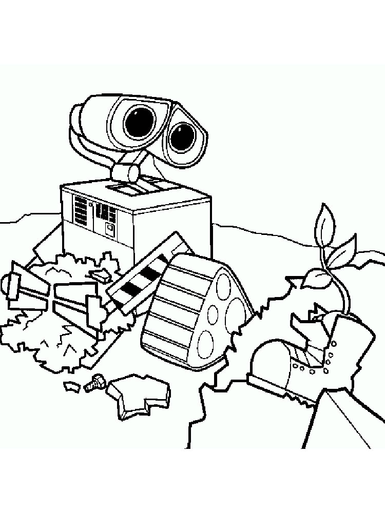walle free coloring pages - photo#29