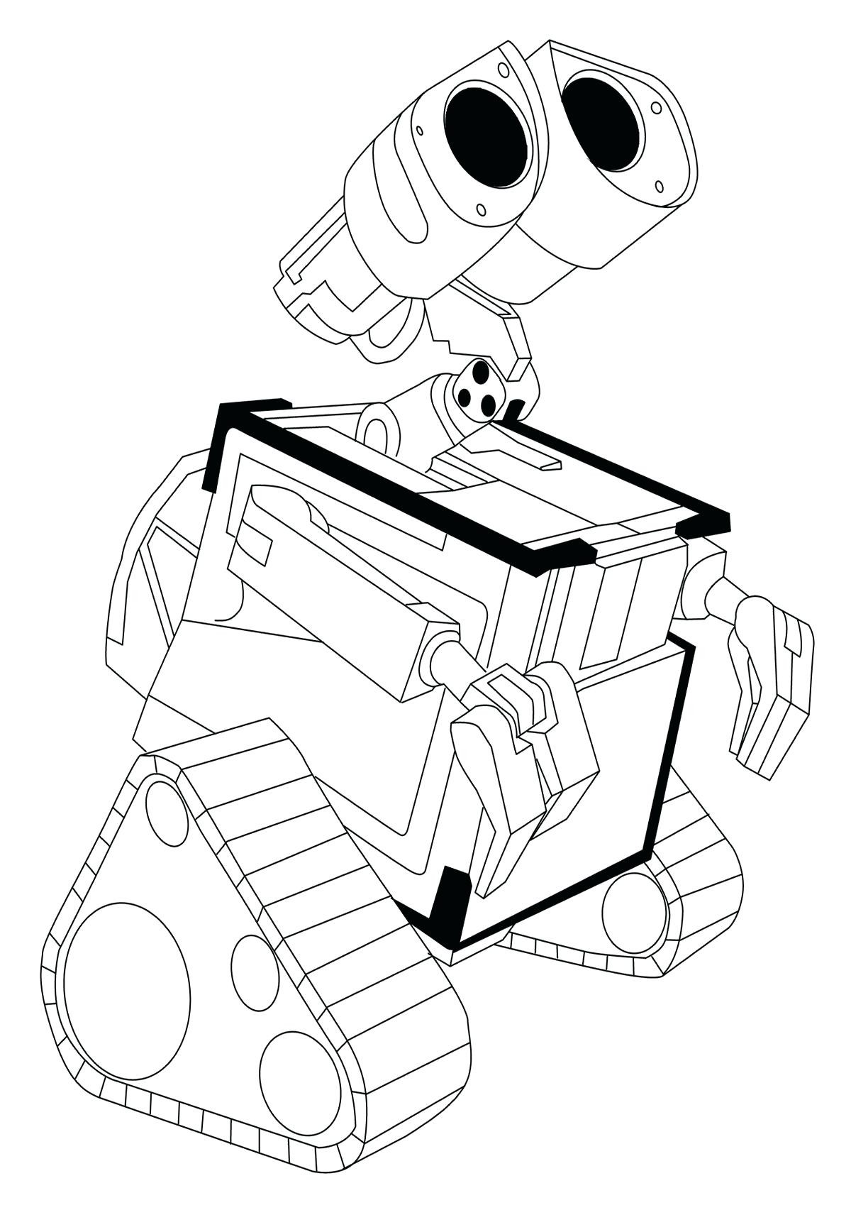 1200x1712 Momjunction Wall E Coloring Pages Free Draw To Color