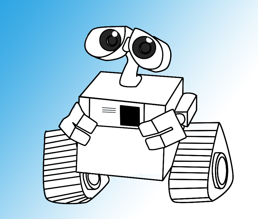 904x767 How To Draw Wall E Robot, Walls And Drawings