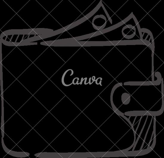 550x530 Sketch Icon Of A Wallet