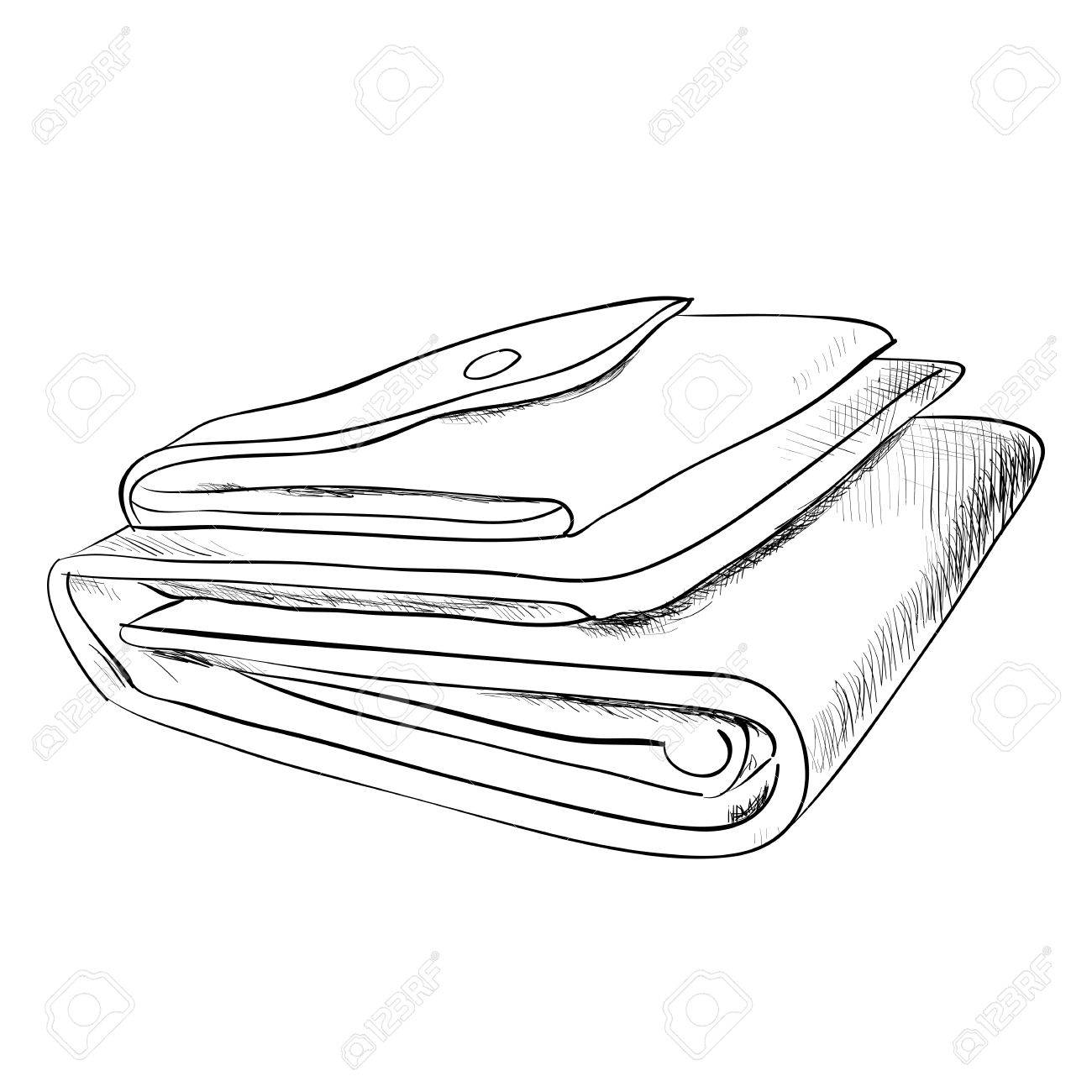 1300x1300 Vector Sketch Of Wallet. Hand Draw Illustration. Royalty Free