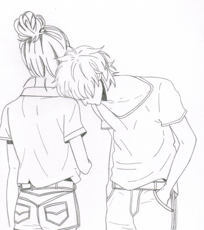 841x949 Pencil Sketch Anime Love Ly Couple Pencil Shading Lovely Couple