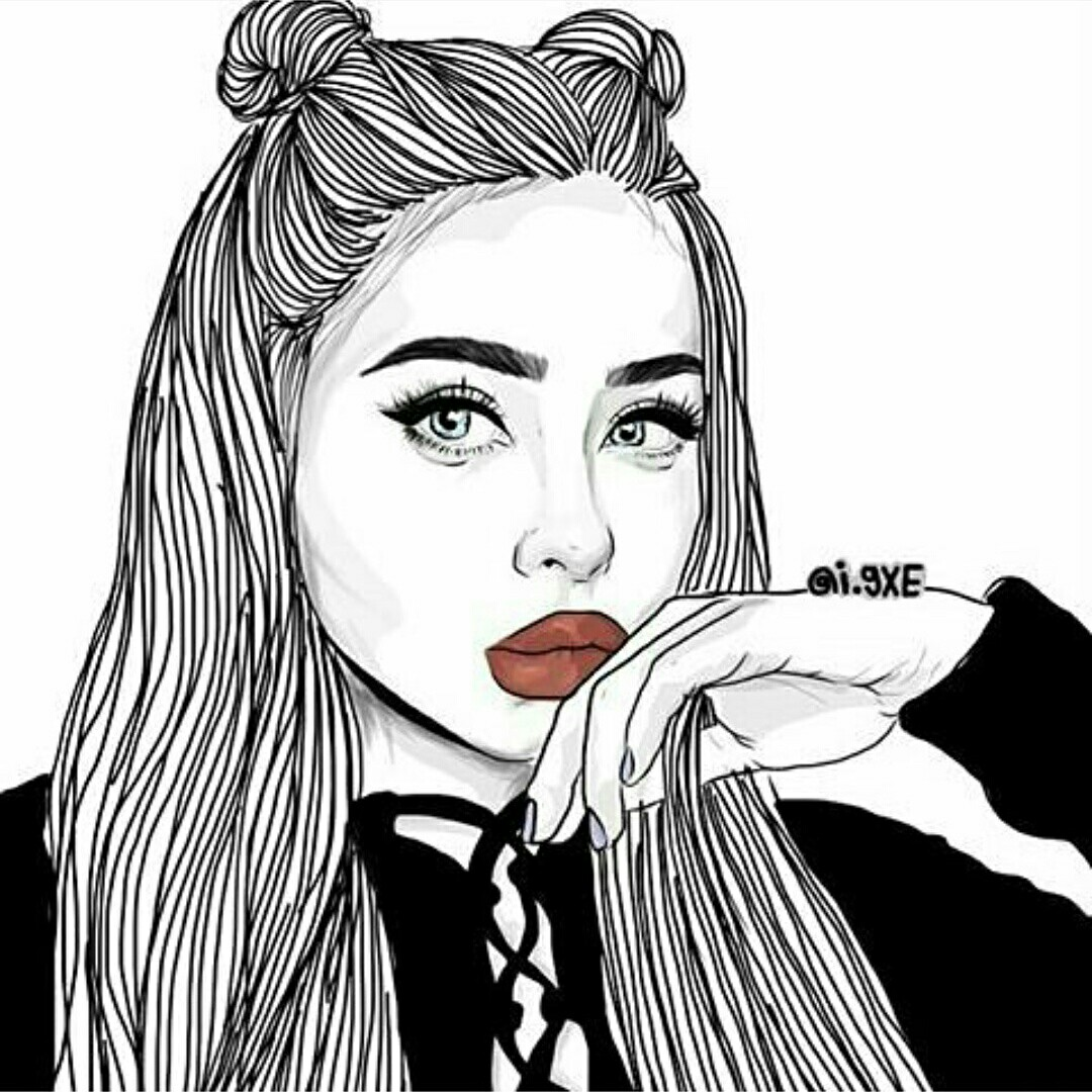 1080x1080 Pin By Kaohlee Yang On Girl Drawings, Outlines