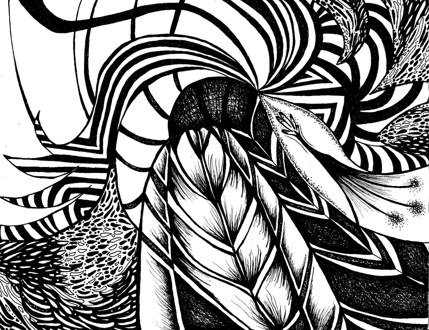 1500x1156 Black And White Line Drawing Wallpaper Black And White Abstract