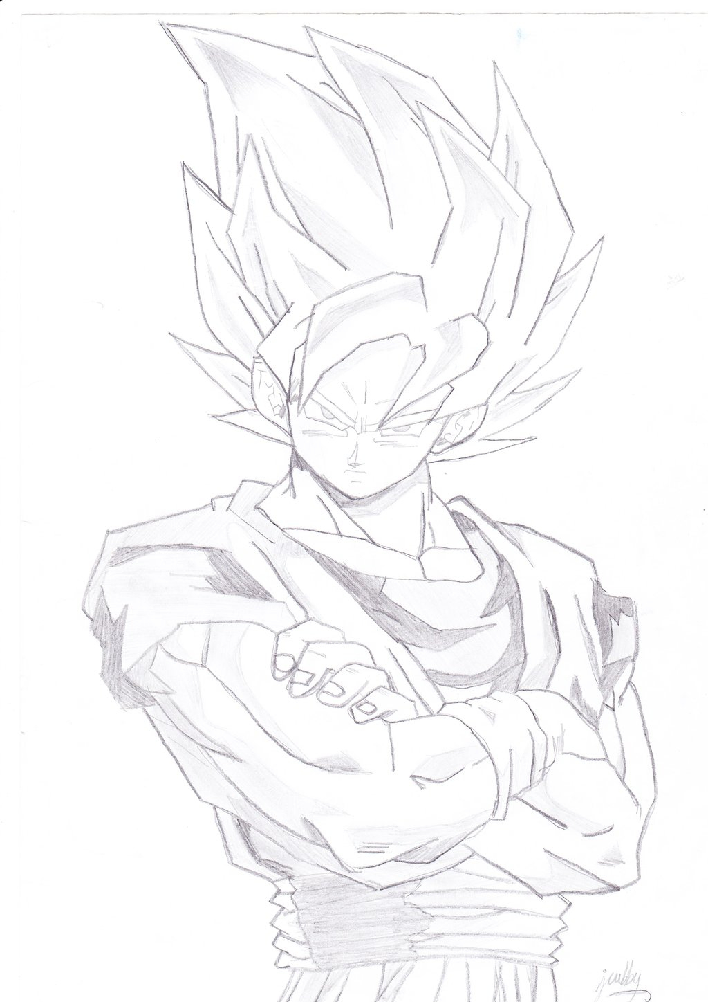 1024x1448 pencil sketch of dragon ball z goku wallpaper in hd