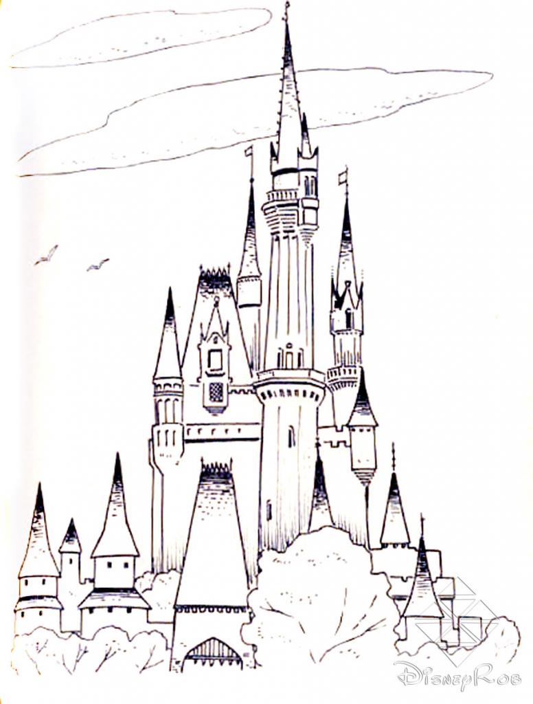 776x1024 Disney World Castle Drawing Cinderella Castle At Walt Disney World