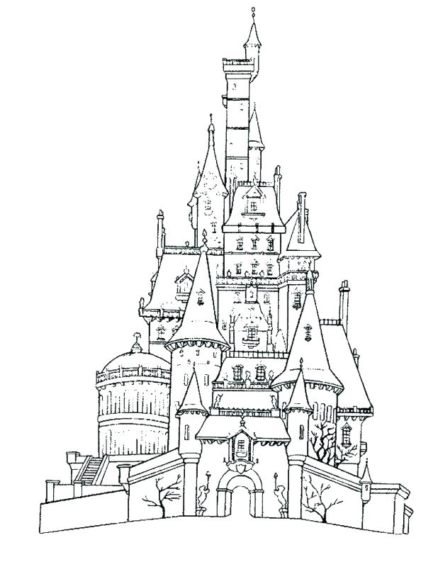 Walt Disney Castle Drawing at GetDrawings.com   Free for personal ...