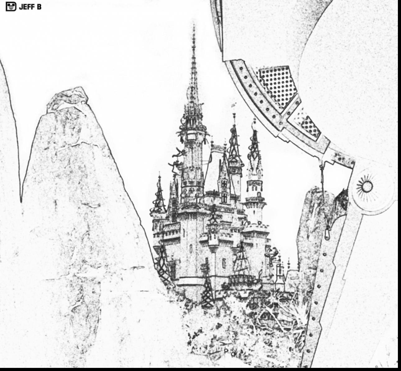 Walt Disney Castle Drawing at GetDrawings.com | Free for personal ...