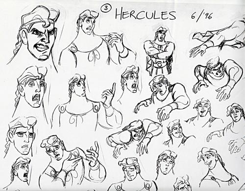 500x391 Walt Disney Characters Images Walt Disney Sketches