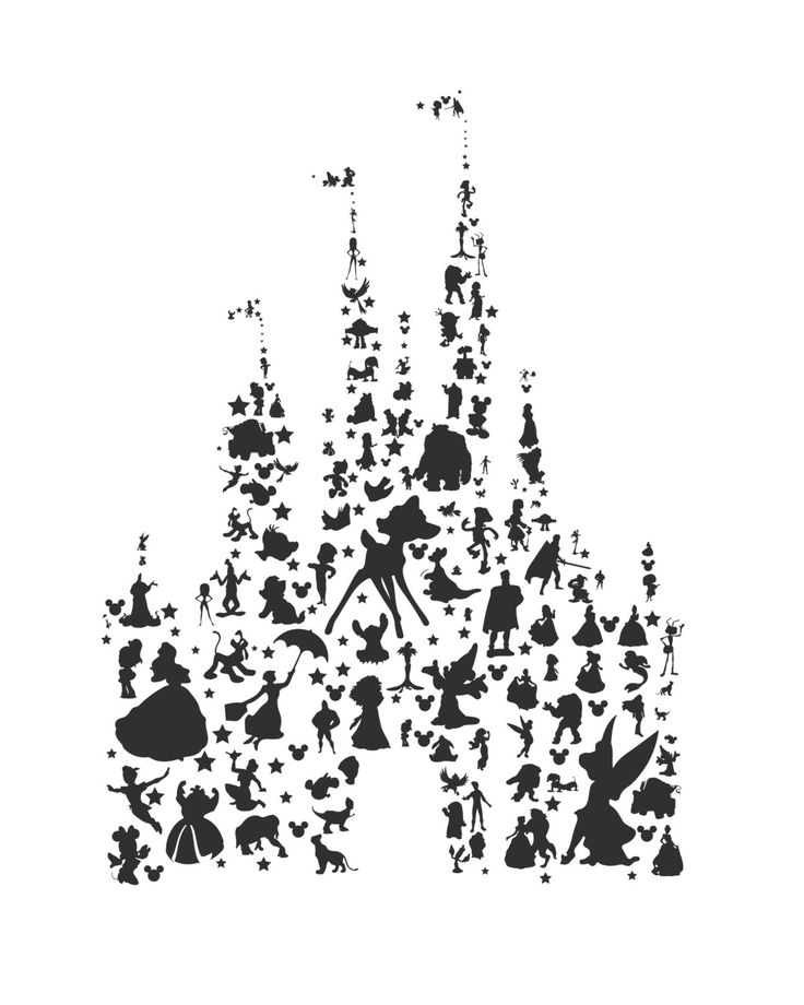 Walt Disney World Castle Drawing