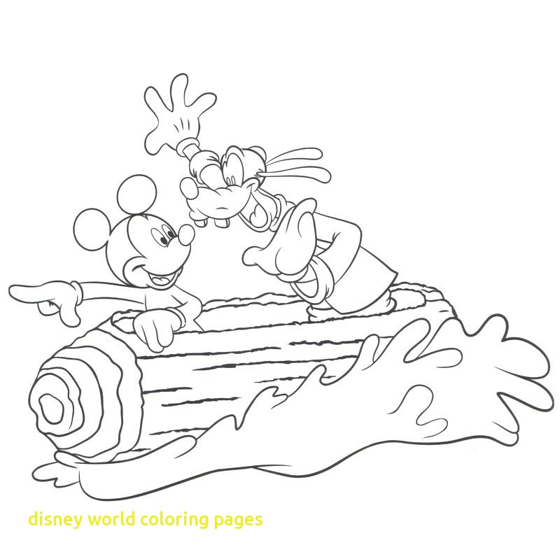 800x799 Disney World Coloring Pages With