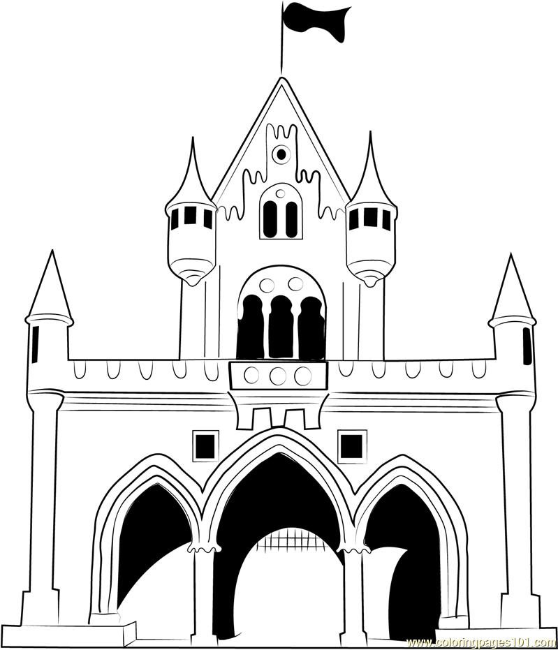 Castle Coloring Pages: Walt Disney World Castle Drawing At GetDrawings.com