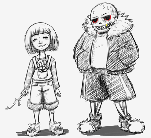 500x459 This All Started Because I Wanted To Draw Overalls Frisk And Then