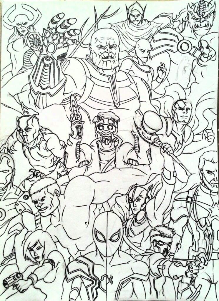 744x1024 Infinity War Sketch Comics Amino