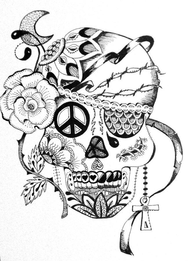 649x900 Sugar Skull