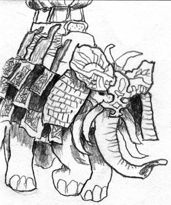 569x680 War Elephant. Nature. Drawings. Pictures. Drawings Ideas For Kids