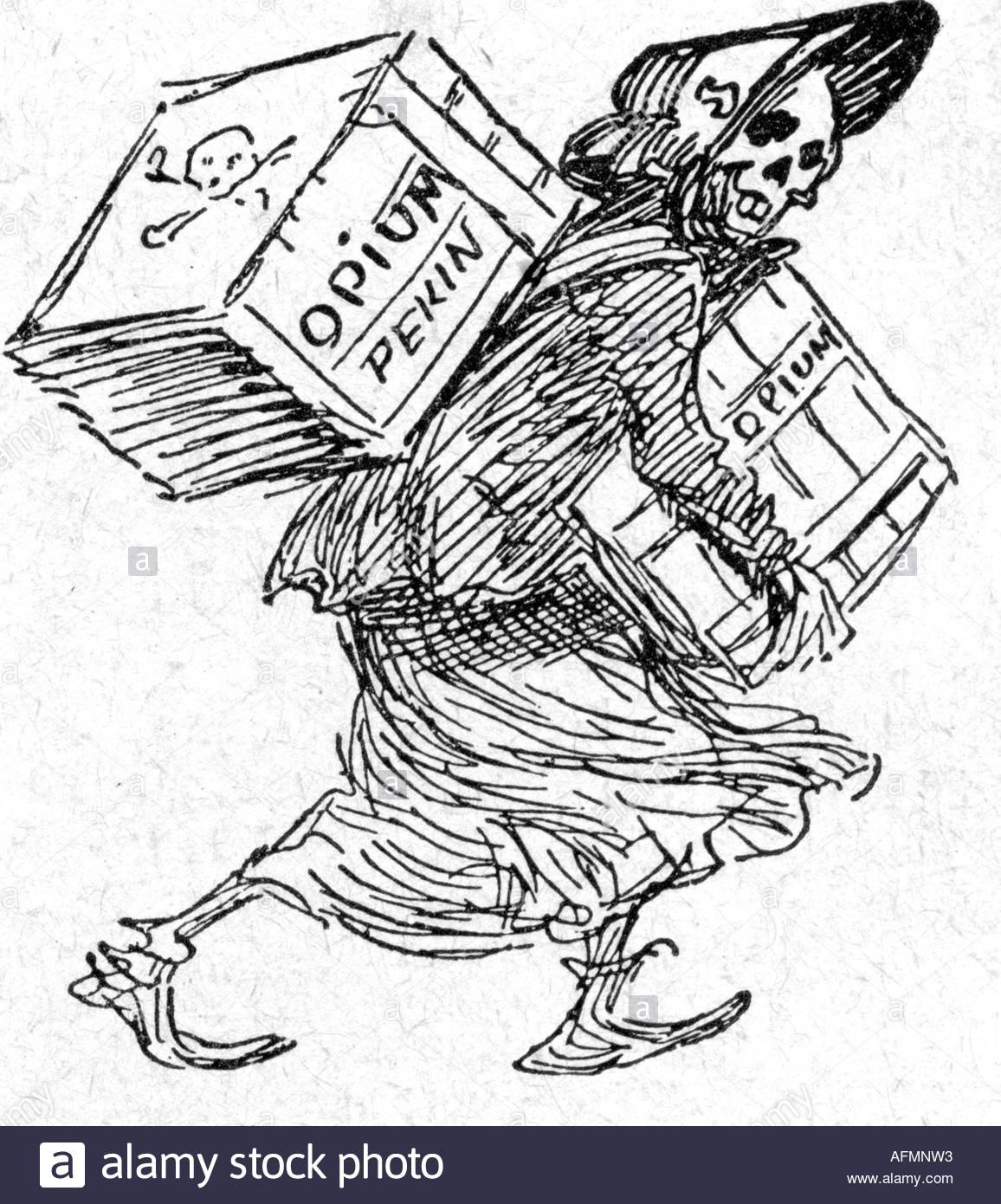 1156x1390 Drugs Amp Dope, Opium, Trade, Caricature Opium War, Drawing In Le