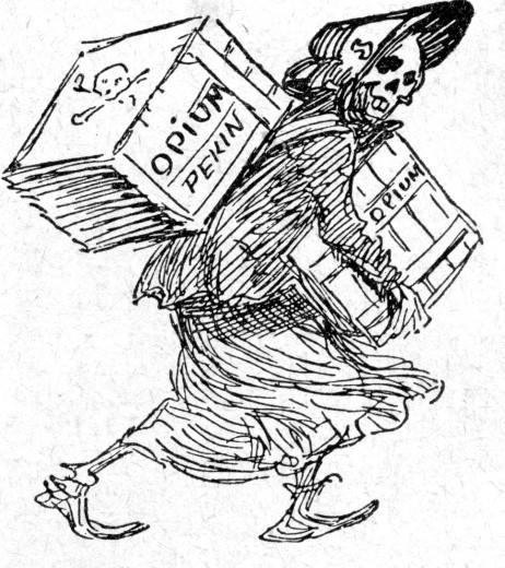 462x520 Drugs Amp Dope Opium Trade Caricature Opium War Drawing In Le