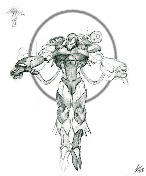 600x720 War Machineline +sketch+ By Darkkenjie