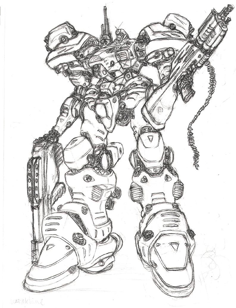 793x1035 War Machine By Braver