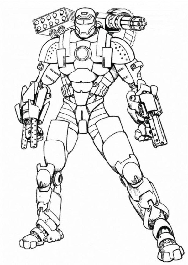 600x845 Iron Man 2 War Machine Coloring Pages Printable To Fancy Print