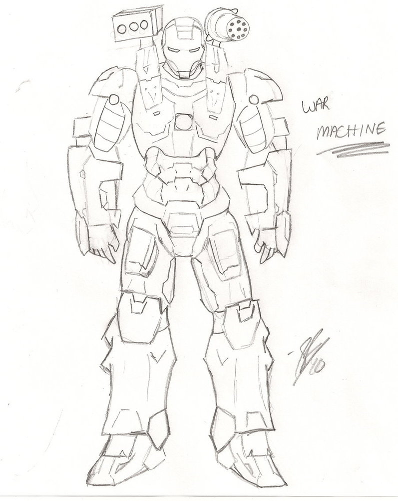 War Machine Drawing At GetDrawings
