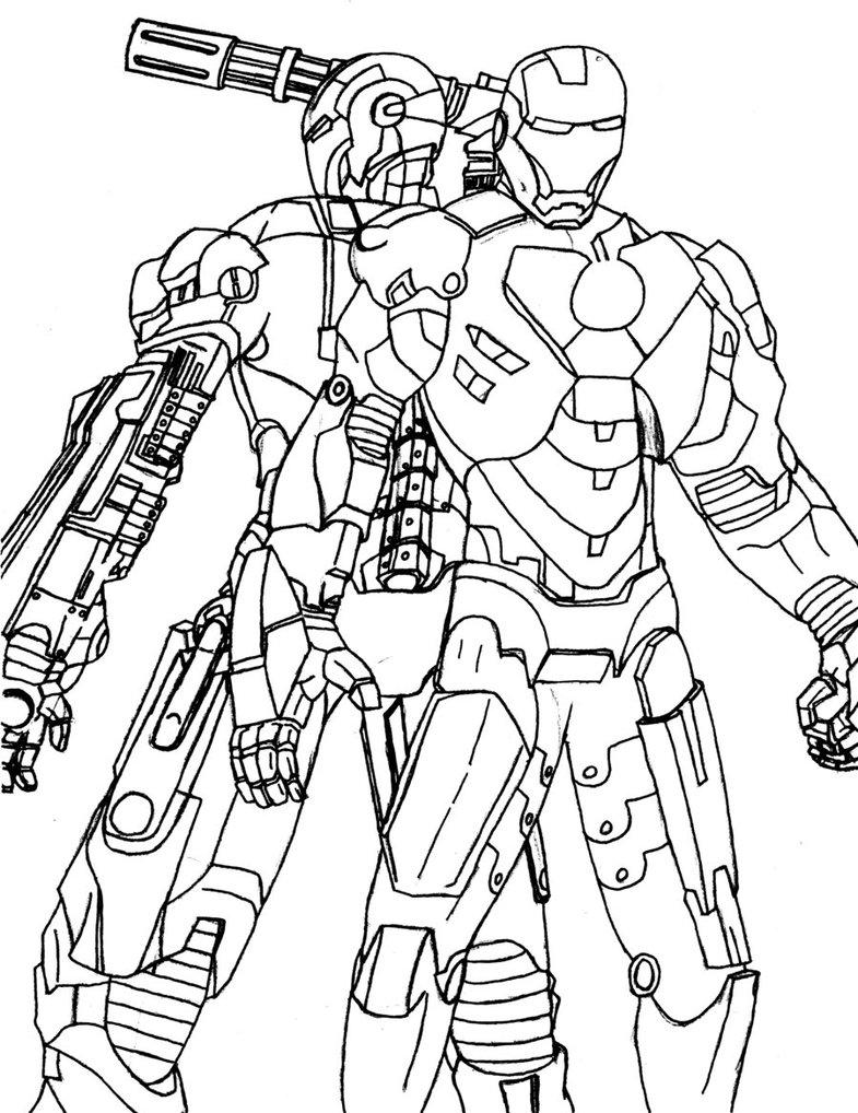 785x1018 Iron Man And War Machine By Sleepbringer