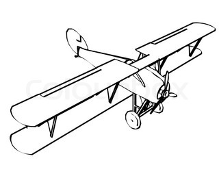 War Plane Drawing