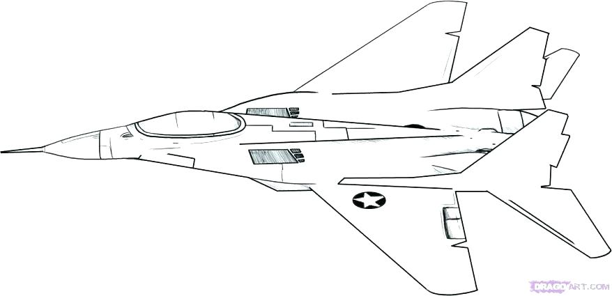 878x425 Fighter Jet Coloring Page Drawn Airplane Colouring Page Pencil