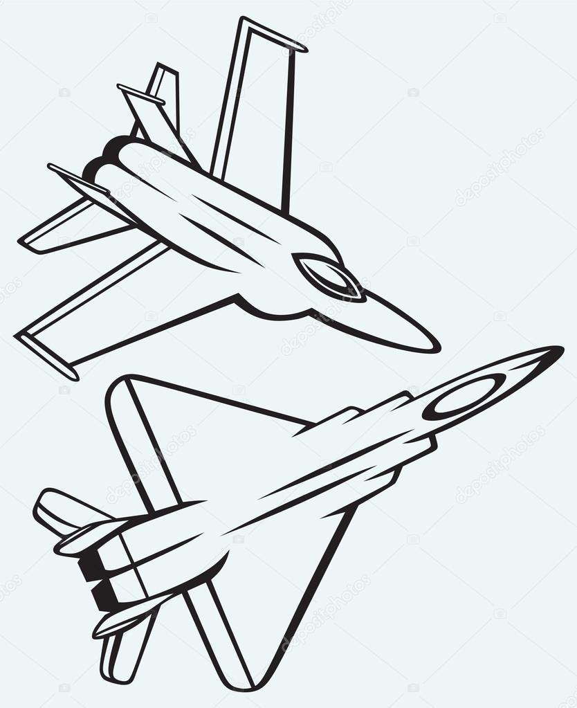 834x1023 Warplane Fighter Stock Vector Kreativ
