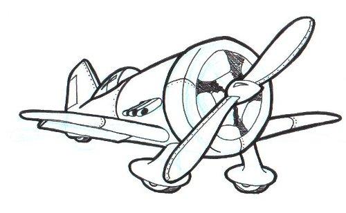 500x308 Doodle 4 War Plane Doodle A Day