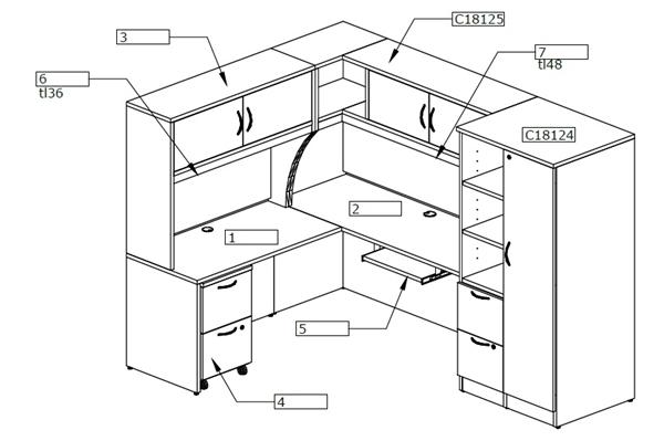 600x399 The Office Leader. Peblo L Shape Office Desk Cubicle Desk